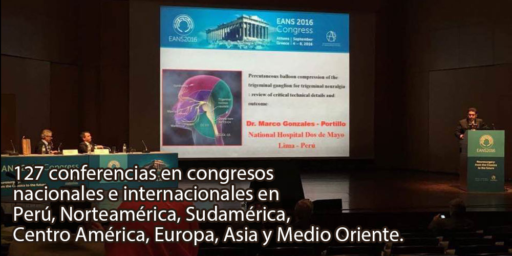 Conferencista en neurocirugías